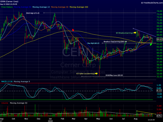 Cerner Stabilizes Above Major Support